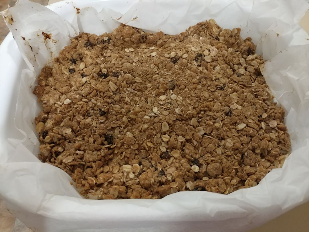 24Apr17 Banana Crumble made with muesli instead of plain oatmealhellip