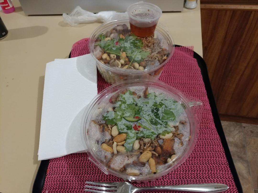 15Nov17 Too much salad  but SO good Vietnamese Porkhellip